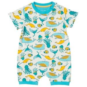 Organic Cotton Romper Sea Animals Print